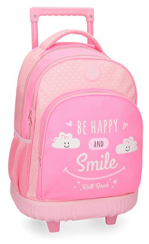 4322961 mochila compacta roll road happy rosa