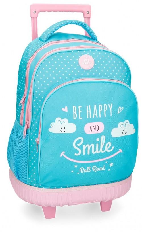 4322962 mochila compacta roll road happy azul