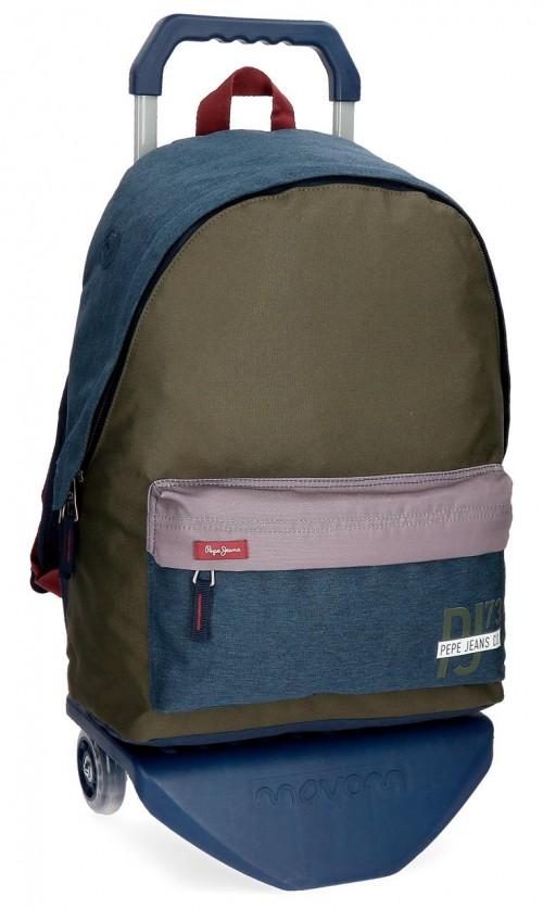 60423N1 mochila con carro pepe jeans trade