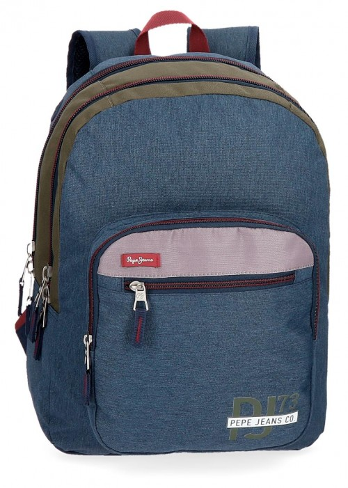 60424B1 mochila doble compartimento adaptable pepe jeans trade