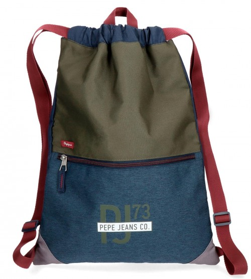 6043861 gym sac pepe jeans trade con bolso frontal y cremallera