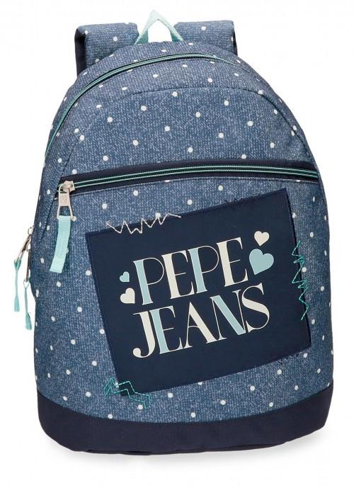 6152161 mochila de paseo pepe jeans olaia azul