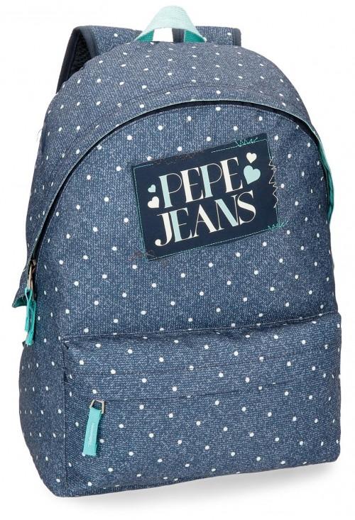 6152361 mochila adaptable pepe jeans olaia azul