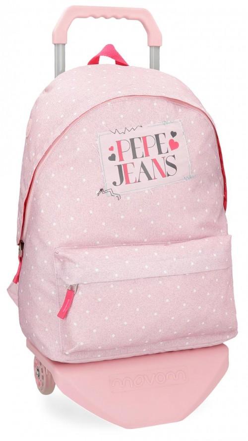 61523N2  mochila con carro pepe jeans olaia rosa