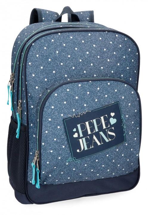 61525B1 mochila doble adaptable pepe jeans olaia azul