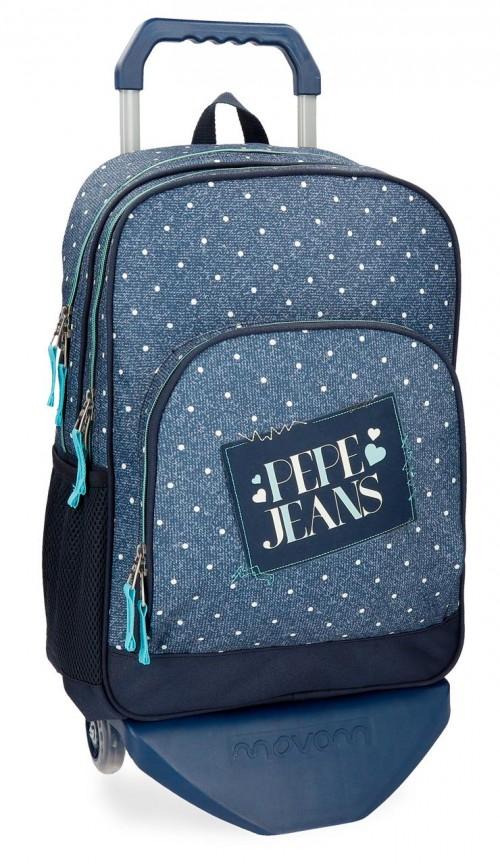 61525N1 mochila doble pepe jeans olaia azul
