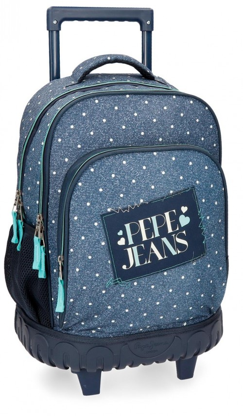 6152961 mochila compacta reforzada pepe jeans olaia azul