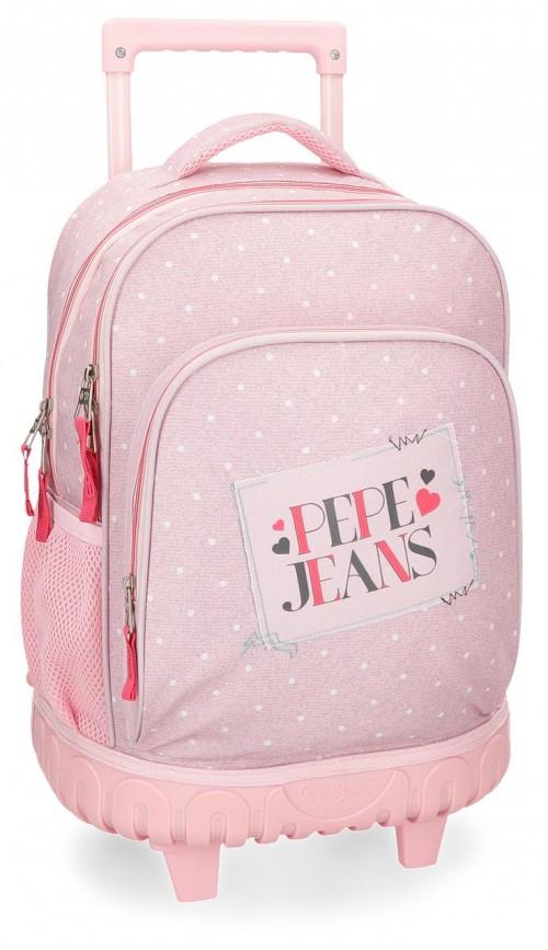 6152962 mochila compacta reforzada pepe jeans olaia rosa