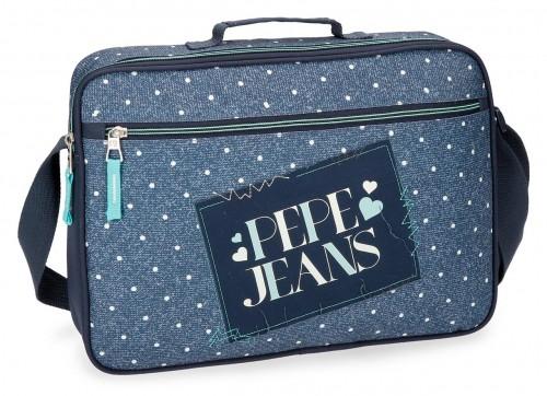 6155361 cartera extraescolares pepe jeans olaia azul