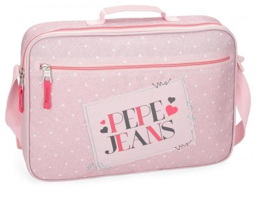 6155362 cartera extraescolar pepe jeans olaia rosa