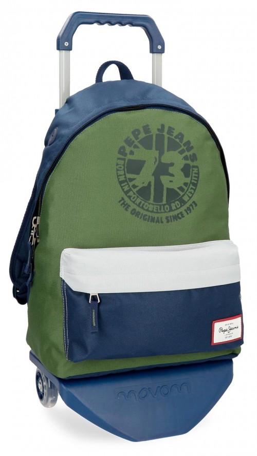 61823N1 mochila con carro pepe jeans joss