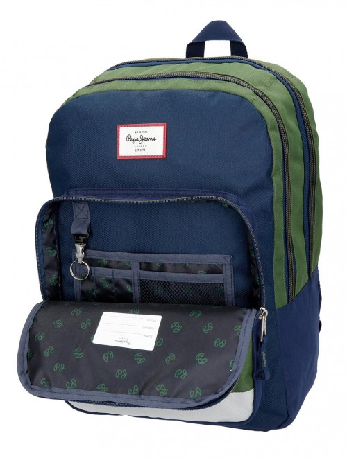6182461 mochila doble adaptable pepe jeans joss interior