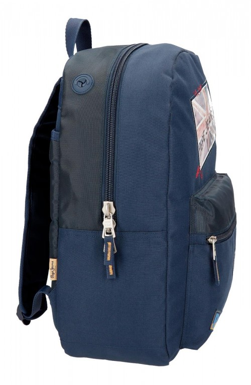 6192361 mochila 44 cm pepe jeans scarf lateral