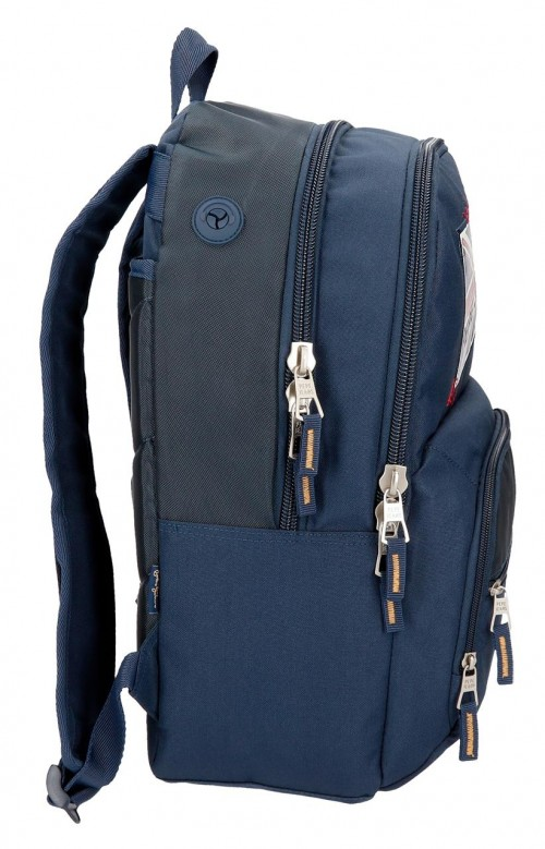 6192561 mochila doble adaptable pepe jeans scarf lateral