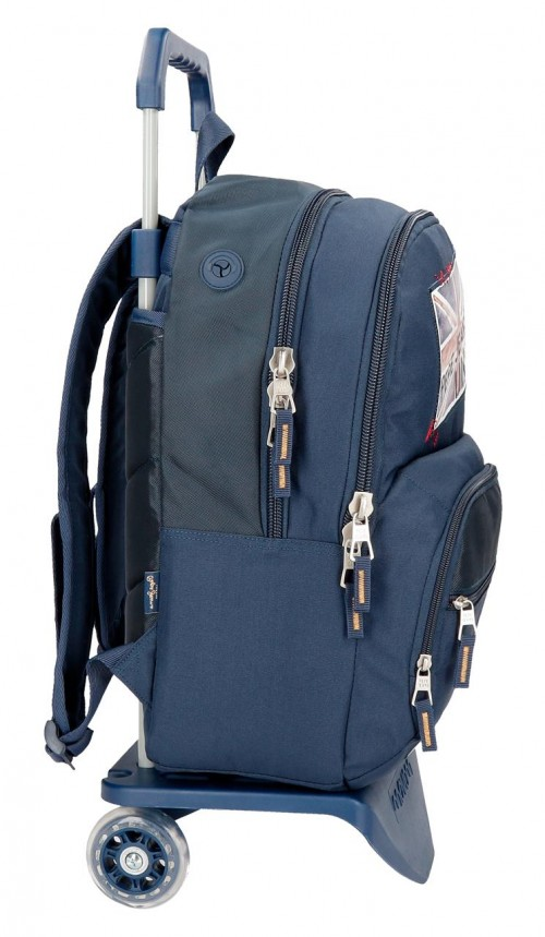 61925N1 mochila doble carro pepe jeans scarf lateral