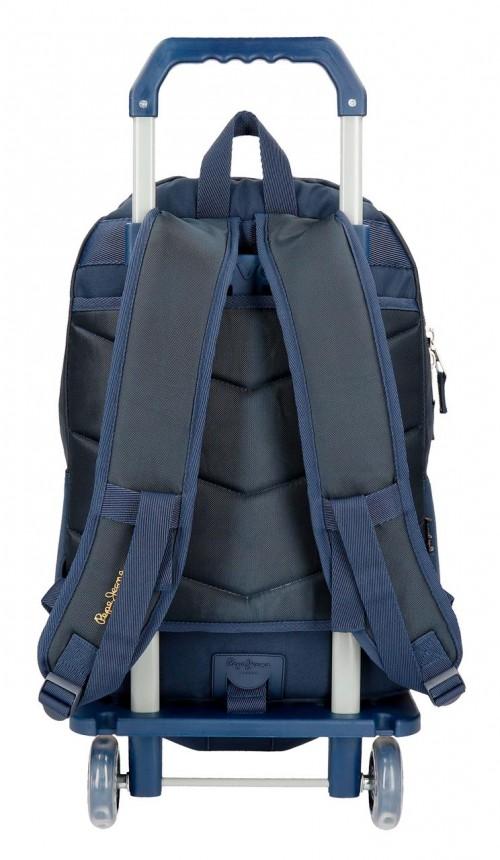 61925N1 mochila doble carro pepe jeans scarf trasera