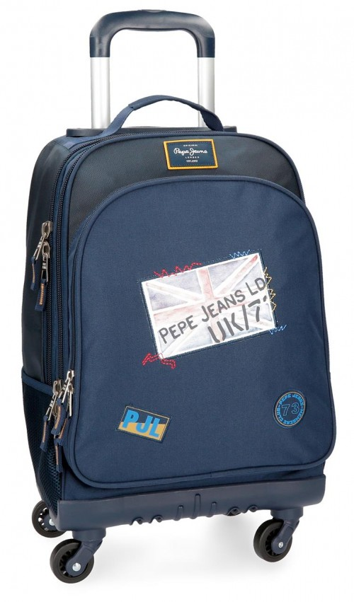 6192861 mochila 4 ruedas pepe jeans scarf