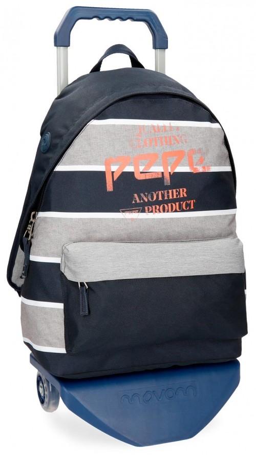 62123N1 mochila con carro pepe jeans pierre