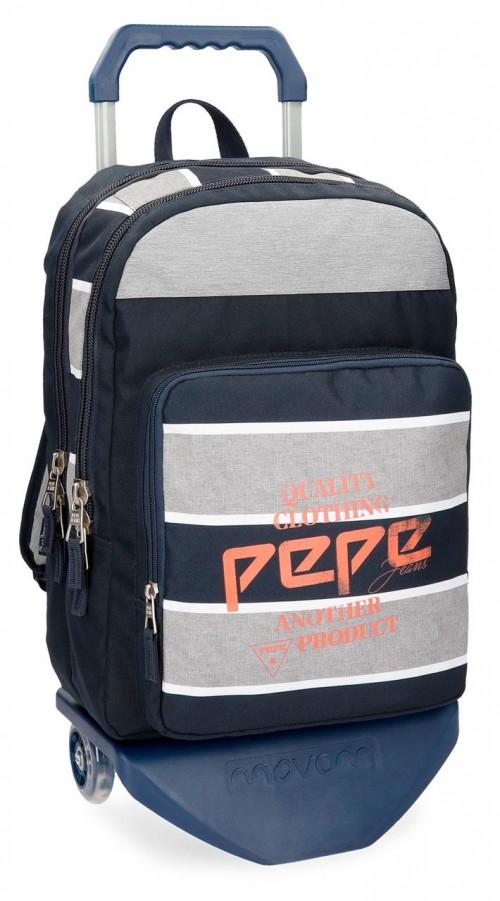 62124N1 mochila doble con carro pepe jeans pierre