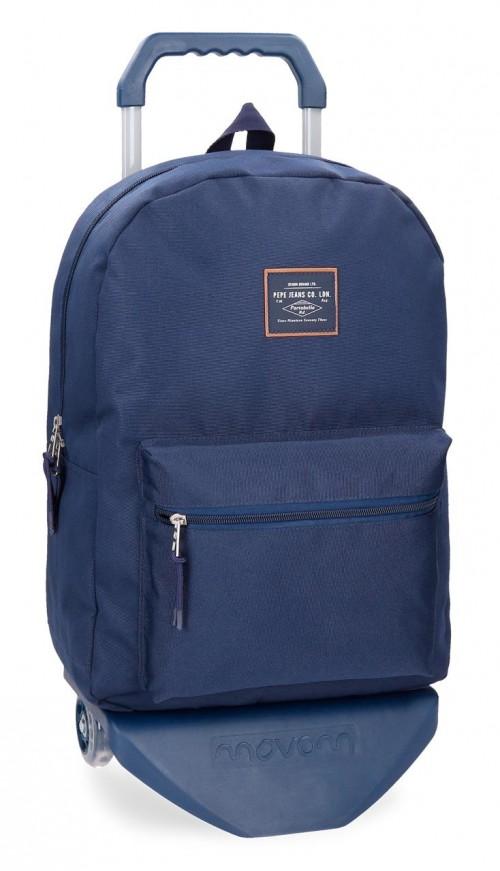62223N2 mochila con carro pepe jeans cross azul