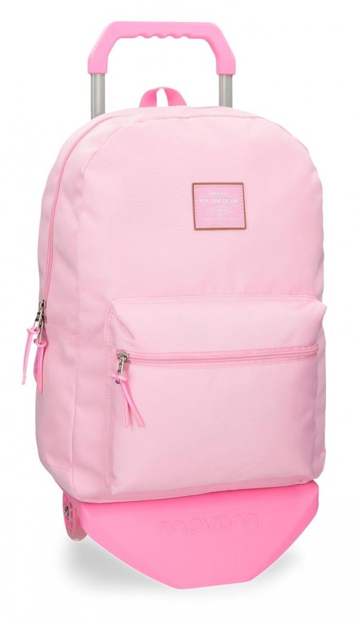 62223N9 mochila con carro pepe jeans cross rosa