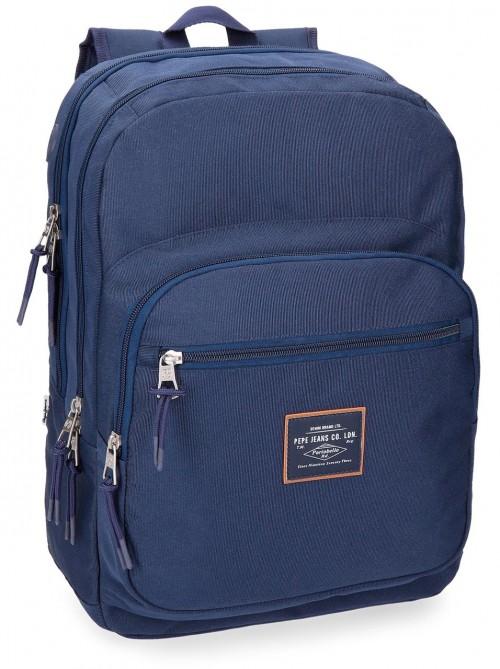 6222462 mochila doble pepe jeans cross azul