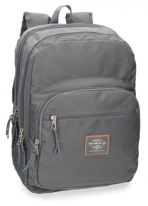 6222465 mochila doble pepe jeans cross gris