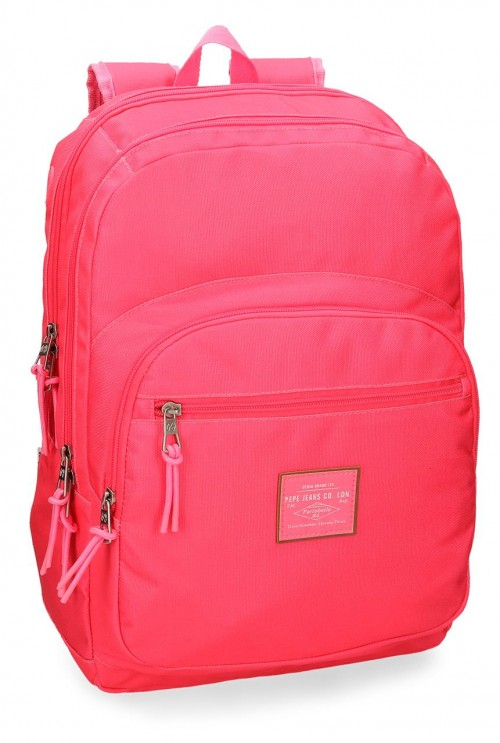 6222466 mochila doble adaptable pepe jeans cross fucsia