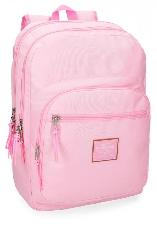 6222469 mochila doble pepe jeans cross rosa
