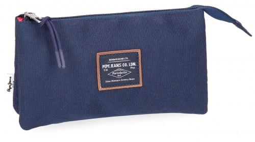 6224362 6224361 portatodo triple pepe jeans cross azul