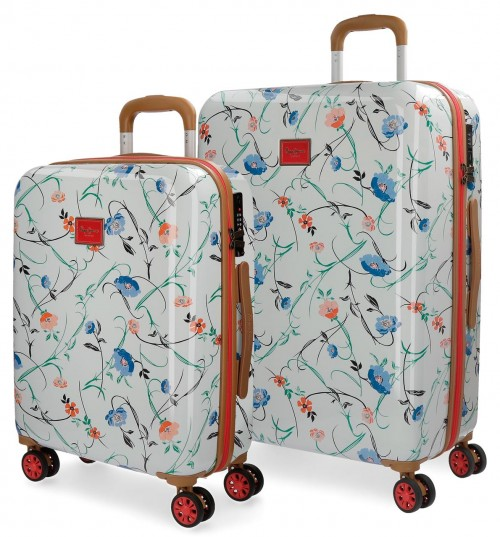 7188961 juego maletas cabina y mediana pepe jeans kansas