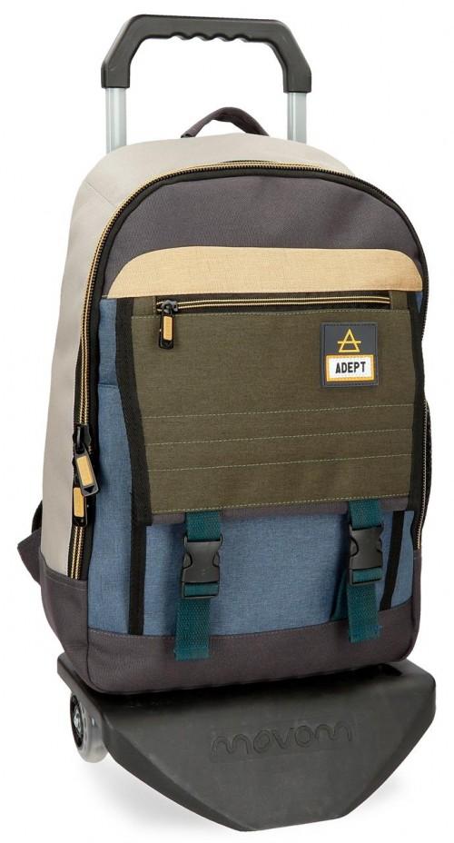 90823N1 mochila portaordenador con carro adep camper