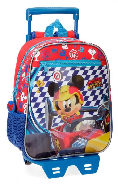 42821N1 mochila con carro 28 cm mickey race