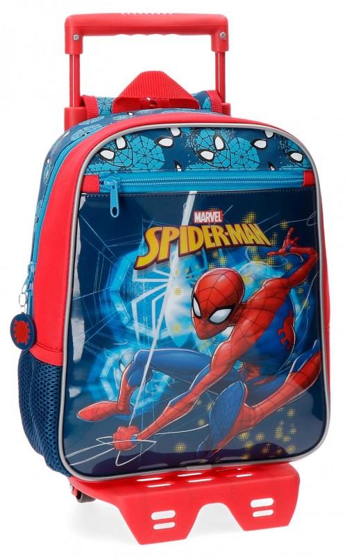 43121N1 mochila 28 cm con carro spiderman neo