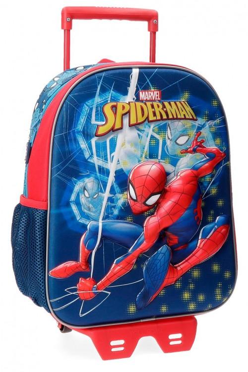 43122N1 mochila 33 cm con carro spiderman neo