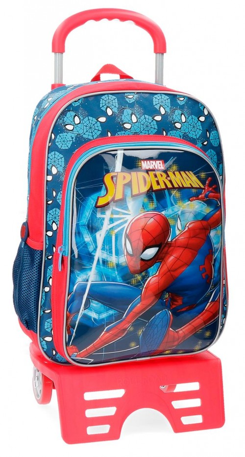 43123N1 mochila 40 cm con carro spiderman neo