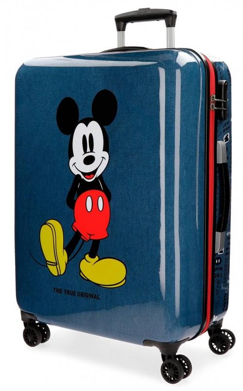 4371861 maleta mediana mickey blue de 68 cm