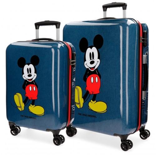 4371961 juego maletas cabina y mediana mickey blue
