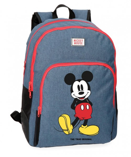 4372661 mochila 44 cm doble compartimento mickey blue