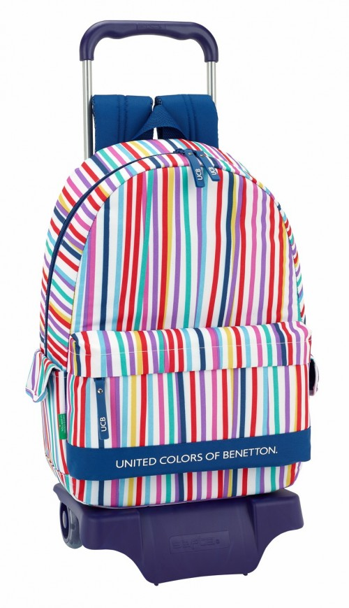 611828160 mochila safta con bolsos laterales benetton color lines con carro