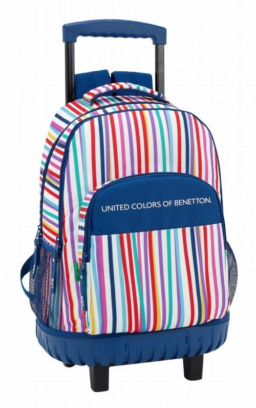 611828818 mochila  reforzada benetton color lines 2 ruedas