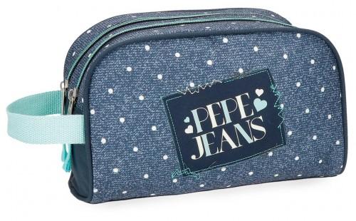 6154461 neceser doble c. adaptable pepe jeans olaia azul
