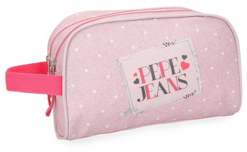 6154462 neceser doble c. adaptable pepe jeans olaia rosa
