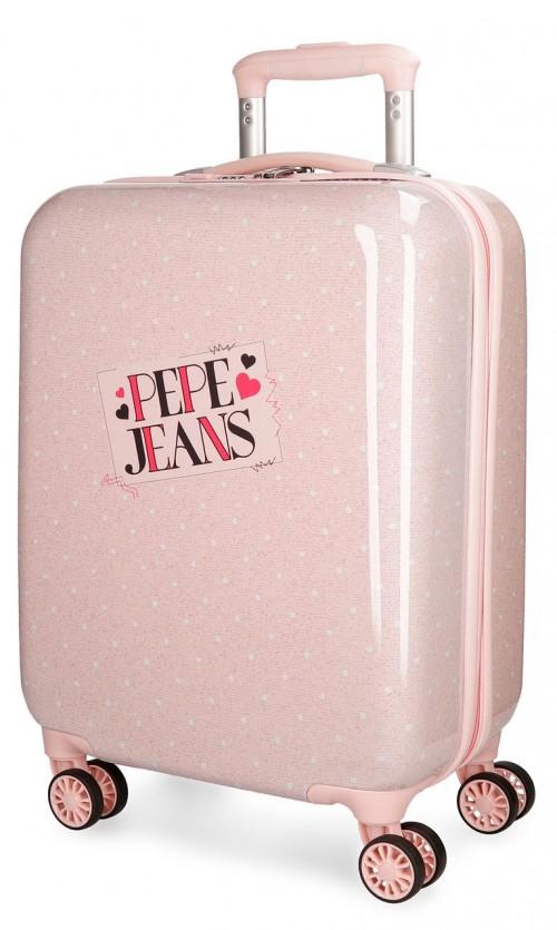 6157062 maleta cabina pepe jeans olaia rosa