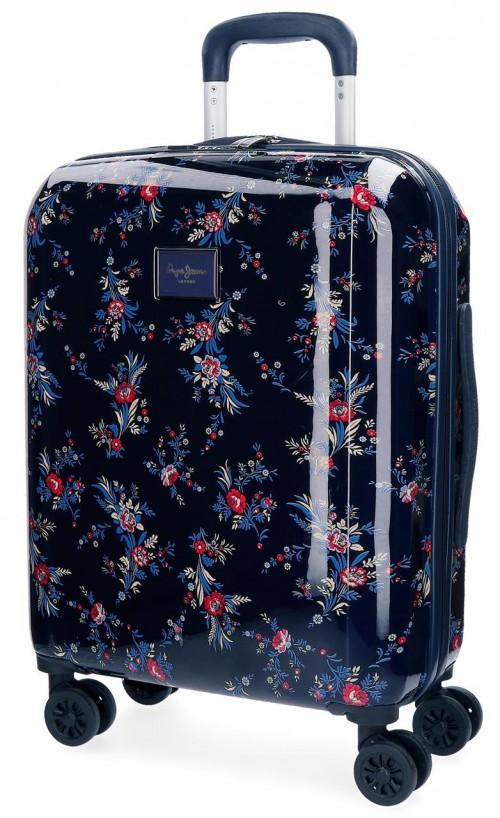 7348761 maleta cabina 4 ruedas pepe jeans emerald