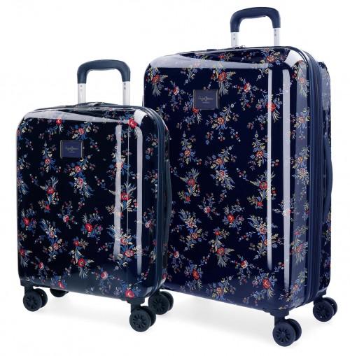 7348961 juego maletas cabina y mediana pepe jeans emerald