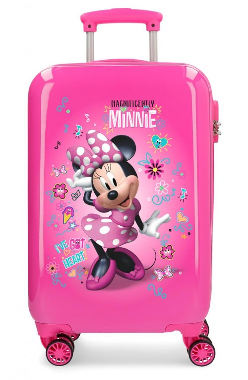 23314E1 maleta cabina minnie stickers 4 ruedas