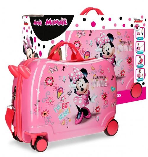23398C1 maleta infantil 4 ruedas minnie stickers