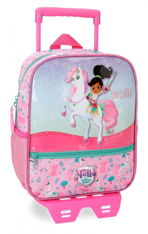 23421N1 mochila 28 cm con carro unicorns nella