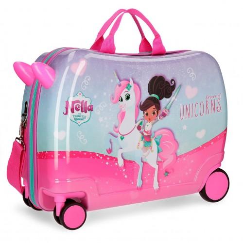 23498C1 maleta infantil 4 ruedas unicorns nella